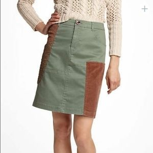 Anthropologie Meadow Rue Patchwirk Cargo Skirt